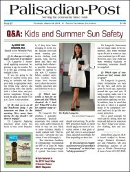 "Palisadian Post: ""Q & A: Kids and Summer Sun Safety"""